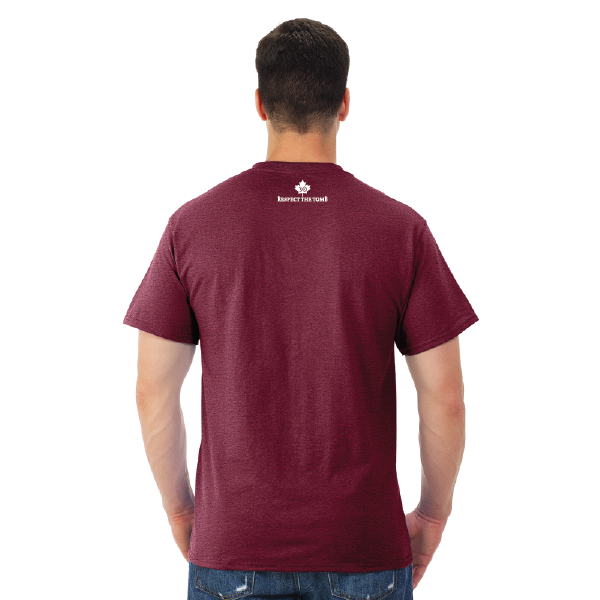 MEN'S T-SHIRT | GTTC DRI-POWER ACTIVE - Vintage Maroon - Back
