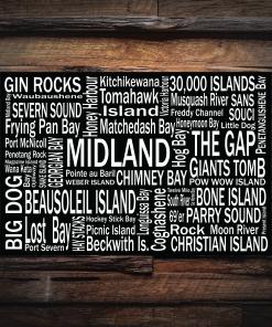 Canvas Print   Georgian Bay Destinations   Giants Tomb Trading Co - Midland