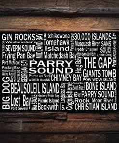 Canvas Print   Georgian Bay Destinations   Giants Tomb Trading Co - Parry Sound