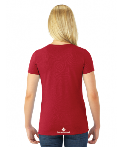 WOMEN'S T-SHIRT | GTTC DRI-POWER ACTIVE- Red - Back