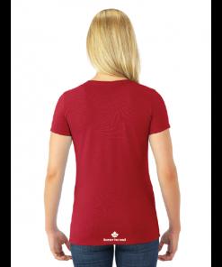 WOMEN'S T-SHIRT   GTTC DRI-POWER ACTIVE- Red - Back