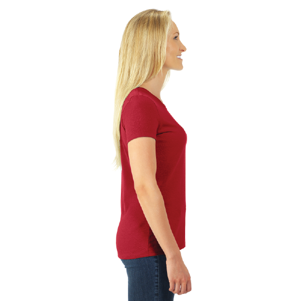 WOMEN'S T-SHIRT | GTTC DRI-POWER ACTIVE - Red - Side