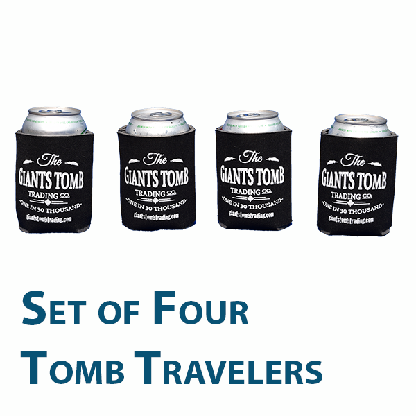 Can Cooler   Tomb Traveler   Giants Tomb Trading Co -Set of 4