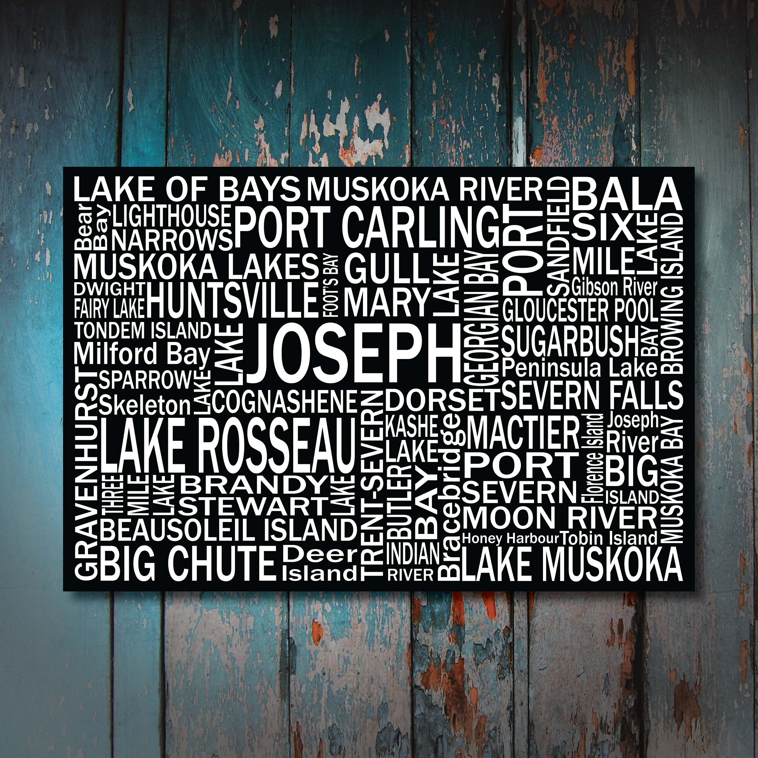 Canvas Print | Muskoka Destinations | Giants Tomb Trading Co - Lake Joseph
