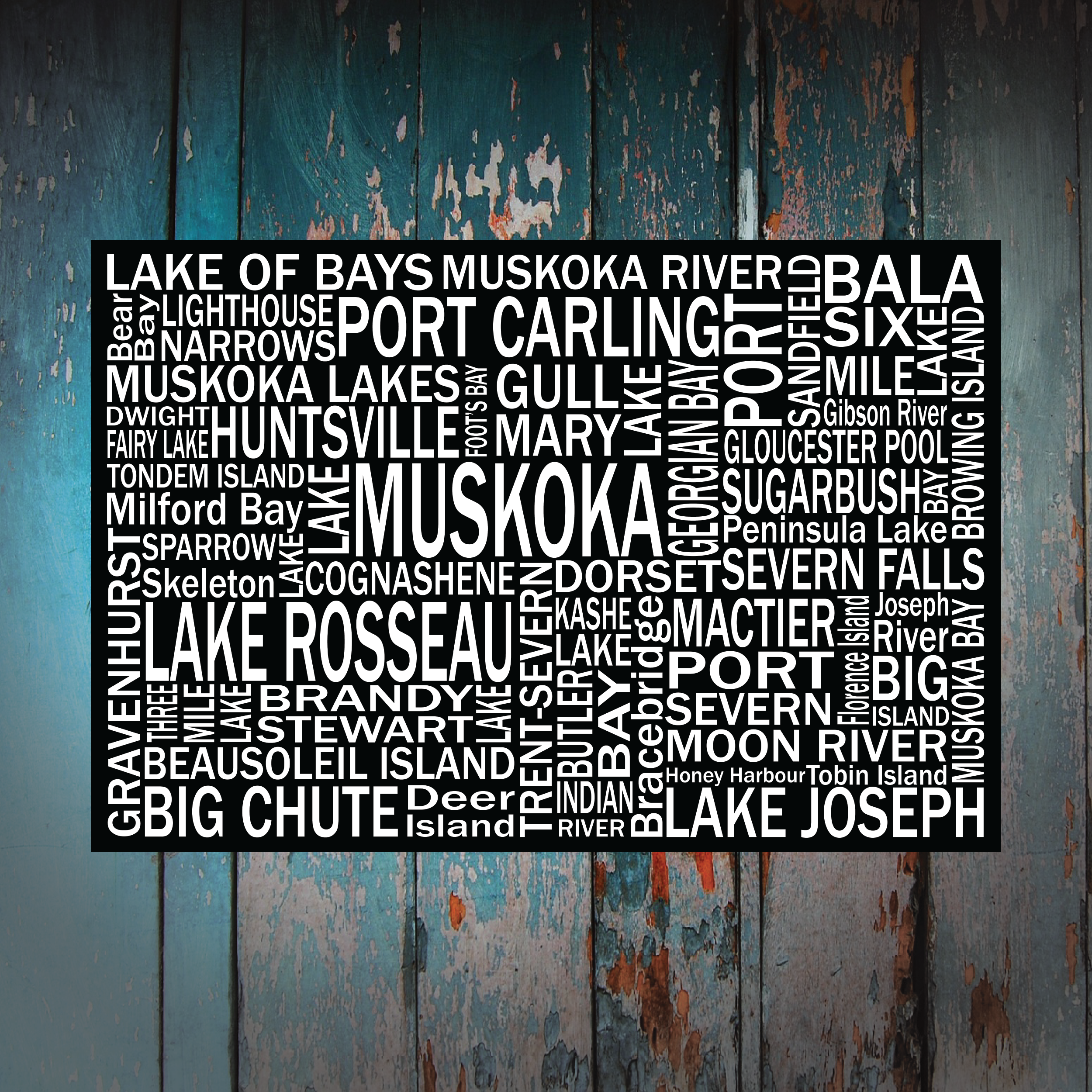 Canvas Print | Muskoka Destinations | Giants Tomb Trading Co - Lake Muskoka