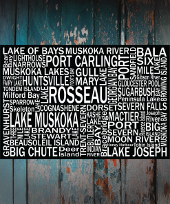 Canvas Print | Muskoka Destinations | Giants Tomb Trading Co - Lake Rosseau