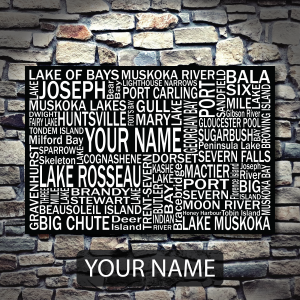 Muskoka Personalized YOUR NAME - Giants Tomb Trading Co