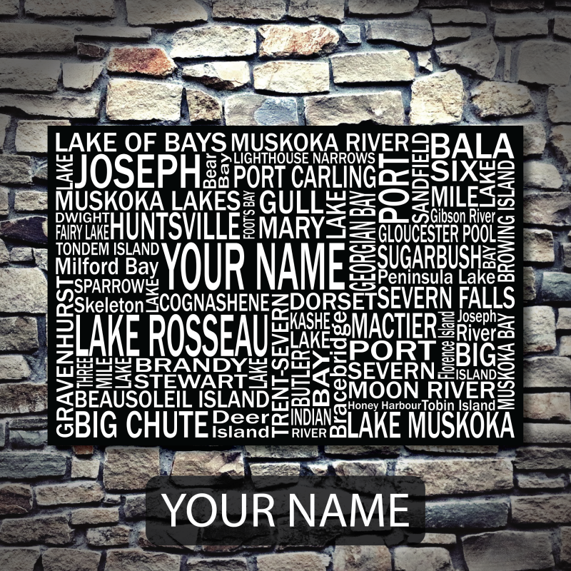 Personalized Canvas Print | Muskoka Destinations | Giants Tomb Trading Co - Your Name