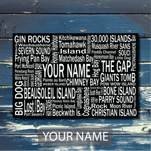 Georgian Bay Personalized Your Name - Giants Tomb Trading Co