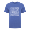 Men's T-Shirt | Active Blend | Heather Royal | Logo: Georgian Bay Destinations - Front