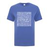 Men's T-Shirt | Active Blend | Heather Royal | Logo: Georgian Bay Destinations - Front