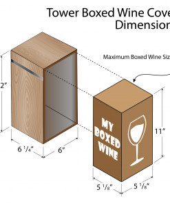 Box Wine Cover Tower Dimensions